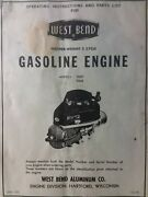 West Bend 70007 70008 Vertical Engine 2-cycle Owner And Parts Manual Lawn Mower