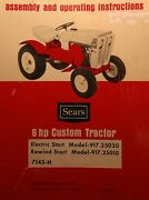 Sears Custom 6 Garden Tractor, Engine, Implements Owner And Parts 8 Manuals102pg