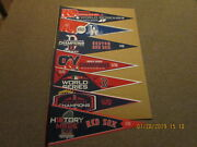 Mlb Boston Red Sox Lot Of 7 Different 2018 Al And World Series Champions Pennants