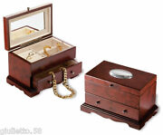 Trunk Jewelry Cm.13x22 Mahogany And Silver 925 3416