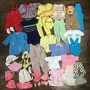 Vintage Children's And Doll Clothing Lot 30+ Items Sweaters, Outfits, Rompers
