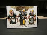 Panini Flawless Jersey Packers Aaron Rodgers Jordy Nelson Eddie Lacy 4/5 2016