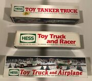 Lot Of 3 Vintage Hess Vehicles- Space Cruiser + Scout / Space Shuttle- Satellite