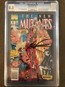 New Mutants 92 - 100 1st Dead Pool Cgc 8.5 - Signed By Rob Liefeld