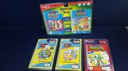 Lot 5 Leap Pad Interactive Book Cartridge Phonics 5 And 6 Reading Music Math New