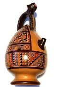 Unique 11 Egyptian Styled Pottery Jug Jar