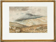 Attributed To Alfred H. Green - 19th Century Watercolour Shepherd In Highlands