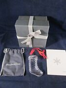 Steuben Glass Christmas Ornament Stocking Excellent In Box
