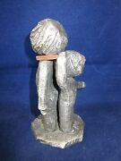 Hudson Pewter Walli Ortman 025 Growing 2 Children With Copper Ruler Usa