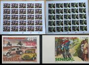 Senegal 2007 - Imperf Full Sheets- Rally Rallye Dakar Cycling Moto Motocycle Mnh