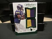 Panini Flawless Emerald Dual Patches Jersey Vikings Adrian Peterson 1/5 2015