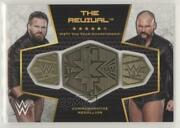 2017 Wwe Then Now Forever Commemorative Championship Plates /299 The Revival