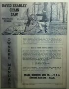 David Bradley Sears 360 Db Chain Saw Owner Parts And Service 2 Manuals917.60001