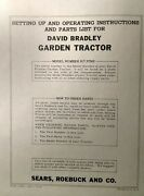 David Bradley Sears 917.57562 Garden Tractor And Plow Owners And Parts 2 Manuals