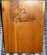 1961 Bible United Auto Workers Of America Memorial Edition In Wood Box Nice