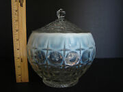 Large Indiana Glass Tiara Constellation Opalescent Glass Cookie Jar With Lid