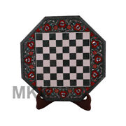 Marble Chess Set Game Board Pieces Coffee Table Hand Made Mosaic Antique Vintage