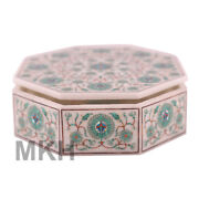 Handmade Marble Jewellery Box Inlay Decor Gifts Marquetry Scagliola Mosaic Boxes
