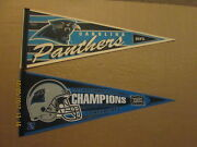 Nfl Carolina Panthers Vintage 1st Year And A 2003 Nfc Champions Football Pennants