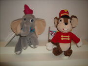 Disney Dumbo And Timothy Mouse Plush Bean Bag 8 New With Tags