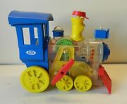 Vintage 1974 Ideal Toys Lil Toot Wind Up Whistling Train Gwo