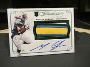 Panini Flawless Emerald On Card Autograph Jersey Chargers Melvin Gordon 4/5 2015