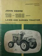 John Deere 110 Round Fender Garden Tractor And 42 Blade Owner And Parts 3 Manuals