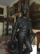 Large Solid Bronze Sculpture Of Lord Byron