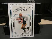 National Treasures Autograph Signatures Packers Jordy Nelson 1/1 One Of One 2016