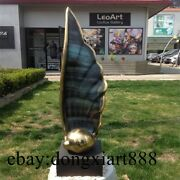 70 Cm Western Art Deco Bronze Copper Boat Sail Sitting Room Abstract Sculpture