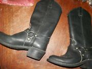 Womenand039s Leather Biker Boots Double H By Richland 6 Medium Hardly Worn