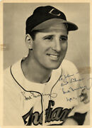 Hank Greenberg Autographed Signed Photo 1948 Indians To John Beckett A71769