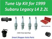 Tune Up Kit For 1999 Subaru Legacy 2.2l Air Filter, Oil Filter, Fuel Filter Pcv