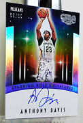 2015 16 Anthony Davis Staring Role Signatures 09/ 35 Thick Card Refractor Type
