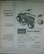 Sears Craftsman Lt 10 Lawn Tractor And 36 Mower Owner And Parts Manual 131.96991