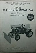 Sears Bulldozer Plow Implement Garden Tractor Owner And Parts Manual 917.251381