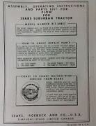 Sears Suburban Custom Garden Tractor Plow, 3-point, Disc Owner Parts 3 Manuals