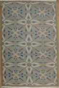 Traditional High And Low Romanian Rug Blue 6'3 X 9'5