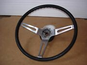 1969 1970 1971 Camaro Olds Buick Chevelle Black Comfort Grip Steering Wheel Hub