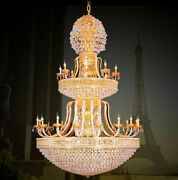 European Court Style Villa Stairs K9 Crystal Ceiling Lamps Chandeliers Lamps Yc