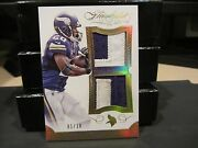 Panini Flawless Gold Dual Patches Jersey Vikings Adrian Peterson 1/10 2015