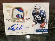 National Treasures Century Logo Jersey Autograph Colts Eric Dickerson 4/4 2012