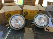 Pair Nos Yankee 98 Tractor Lights 1940and039s 50and039s Car Truck Sedan Auto Machine Old