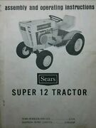 Sears Suburban Ss/12 Tractor And Engine Owners,parts,service 4 Manuals 917.25510