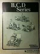 Wheel Horse B C D Lawn Garden Tractor Owner And Service 2 Manual S D-200 C-165