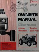 Sears Suburban 10/6 Garden Tractor And Snow Thrower Owner And Parts 2 Manuals 54pg