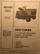 Sears Craftsman Lt 12 Lawn Tractor And 38 Mower Owner And Parts Manual 917.254630