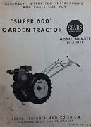 David Bradley Sears 917.575144 Garden Tractor And Plow Owners And Parts 2 Manuals