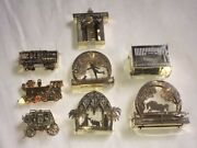 Lot New And Vintage Christmas Solid Brass Gold Plated Ornaments Made In Usa