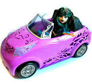 Monster High Girls Horror Fashion Action Figure Doll + Large Car Toy Accessory
